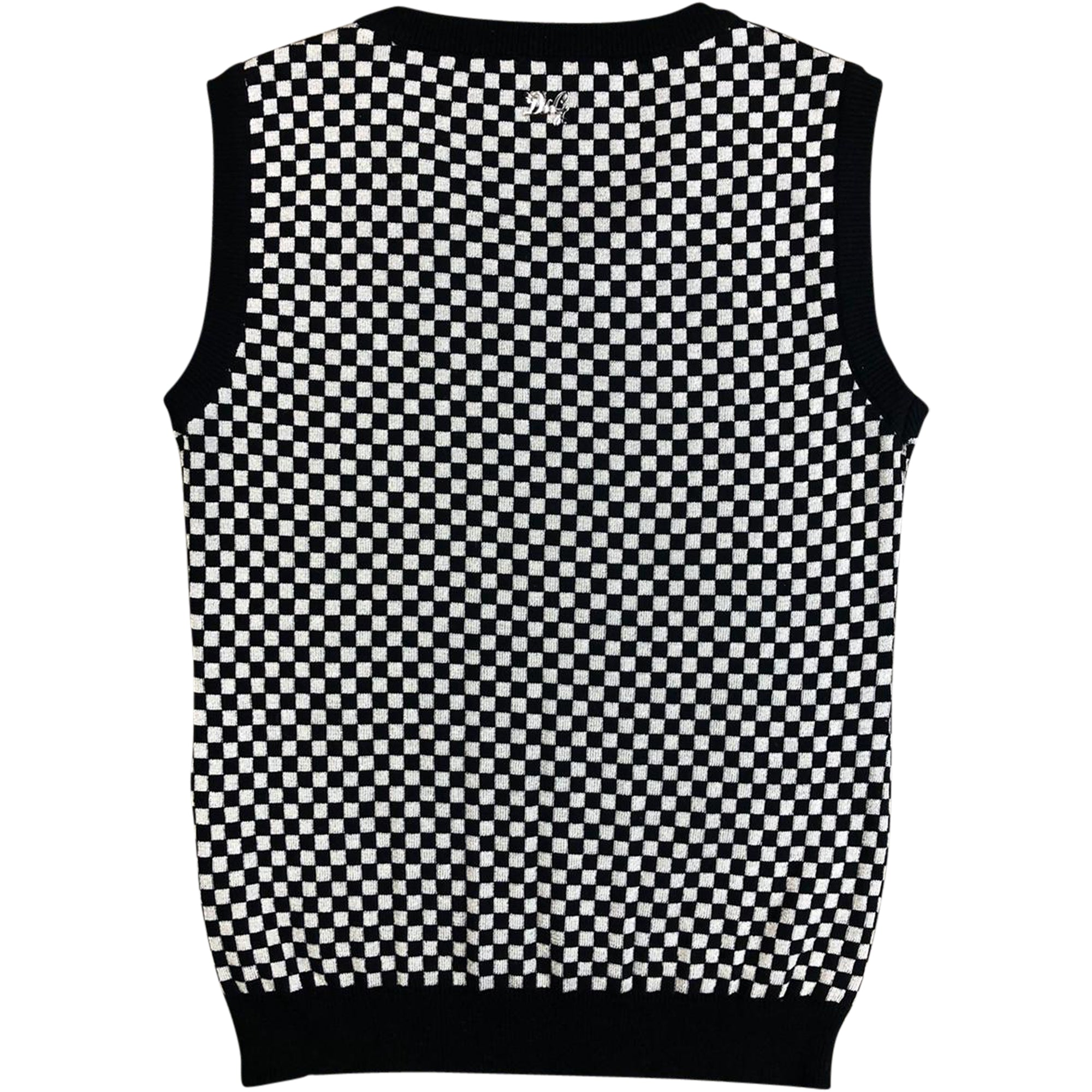 Dolce and Gabbana Knit Vest (Checkerboard) UK 6-10
