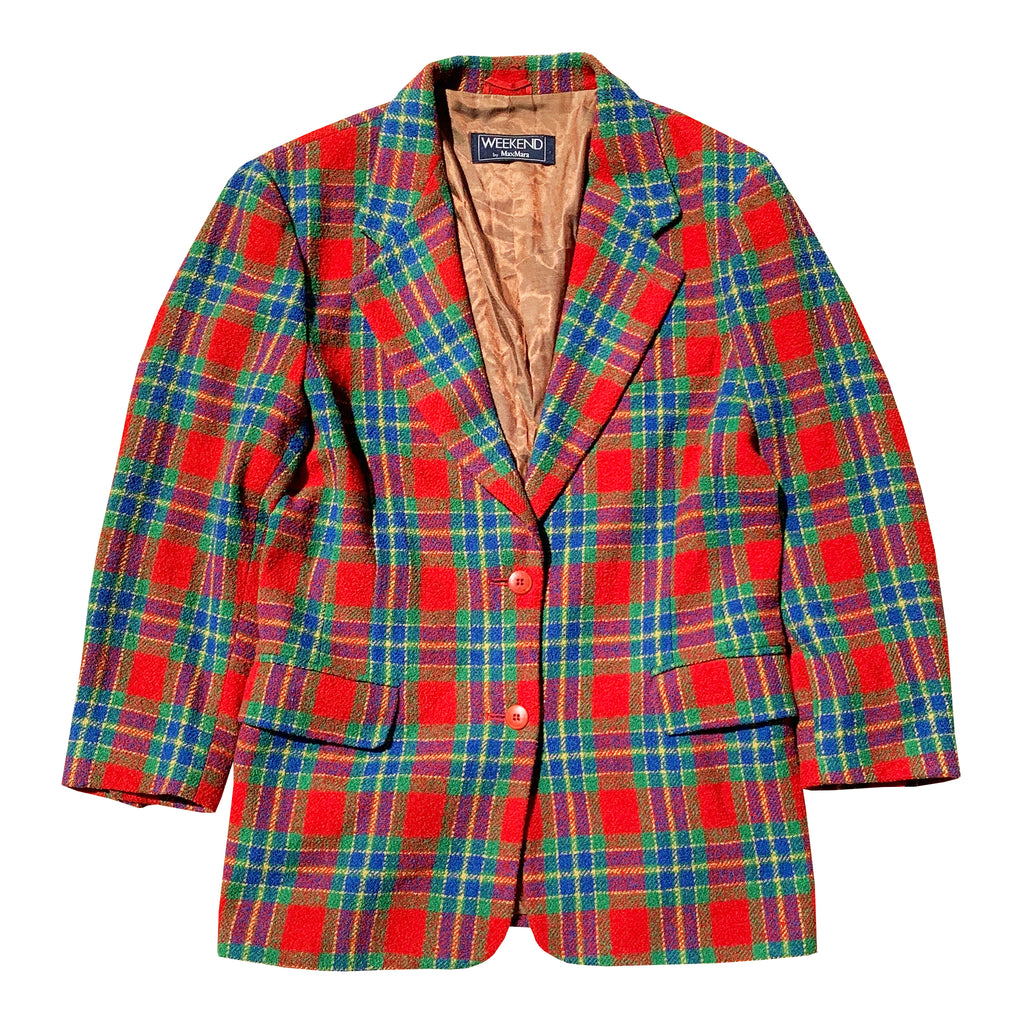 Max Mara Plaid Blazer (Multi) UK 8-12