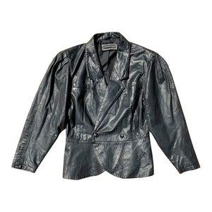 Rocco Barocco Leather Jacket (Black) UK 6-10