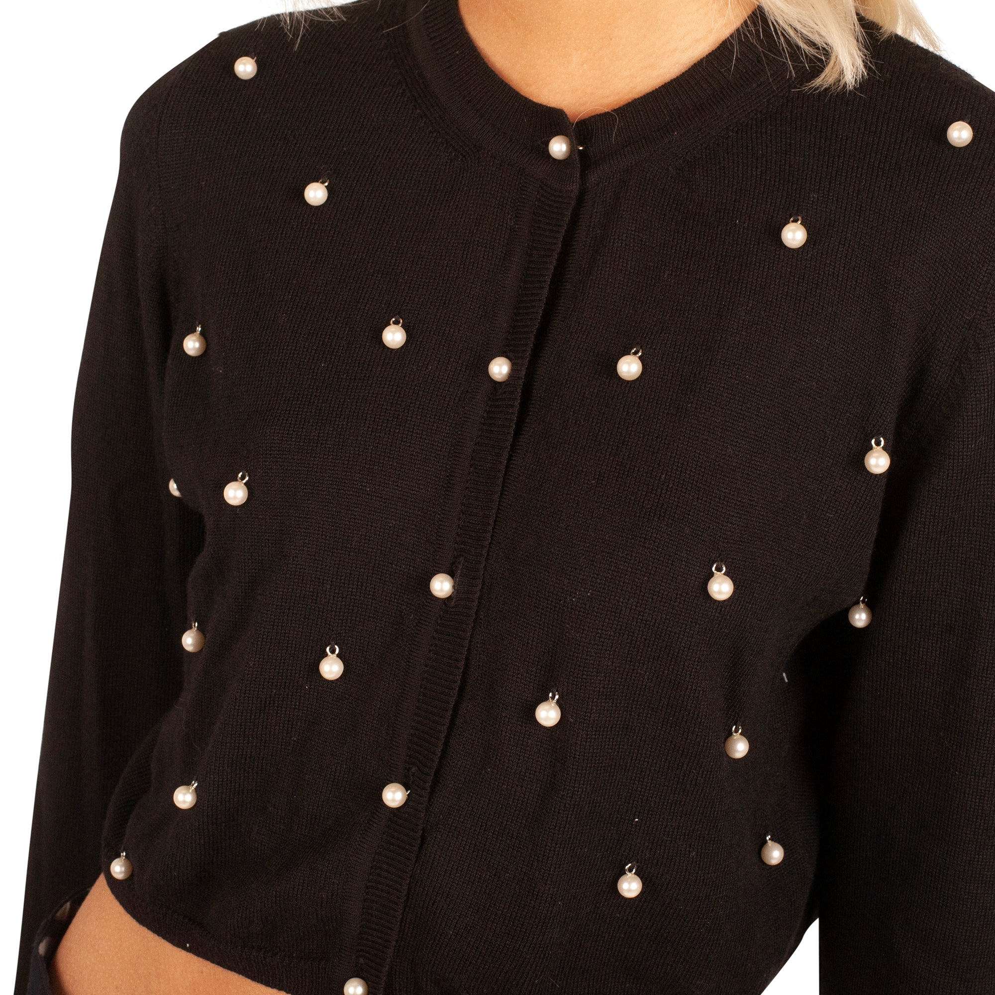 Moschino Pearl Cardigan (Black) UK 6-10