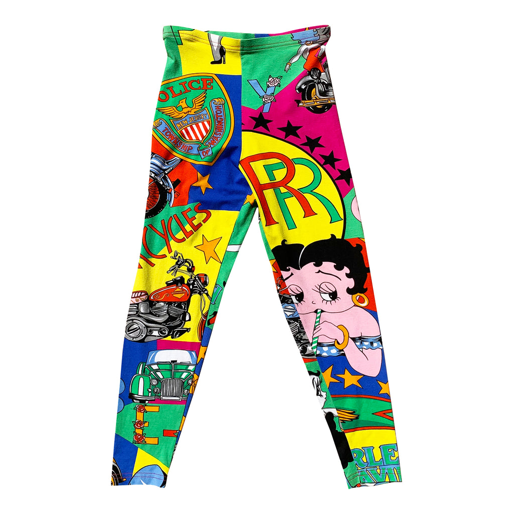 Versace Betty Boop Leggings (Multi) UK 6