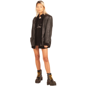 Valentino Leather Jacket (Black) UK 6-12