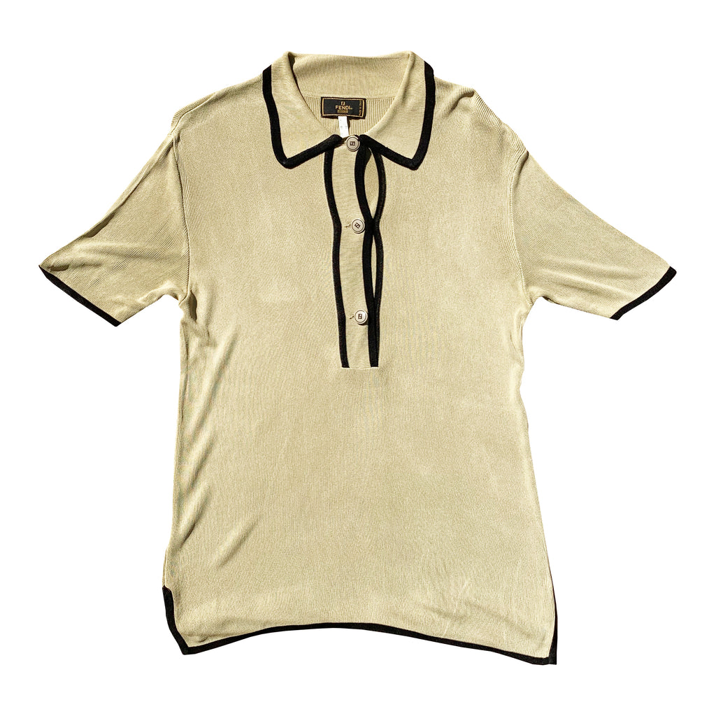 Fendi Sheer Shirt (Beige) UK 8-12