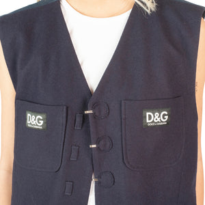 Dolce and Gabbana Wool Vest (Navy) UK 8-12