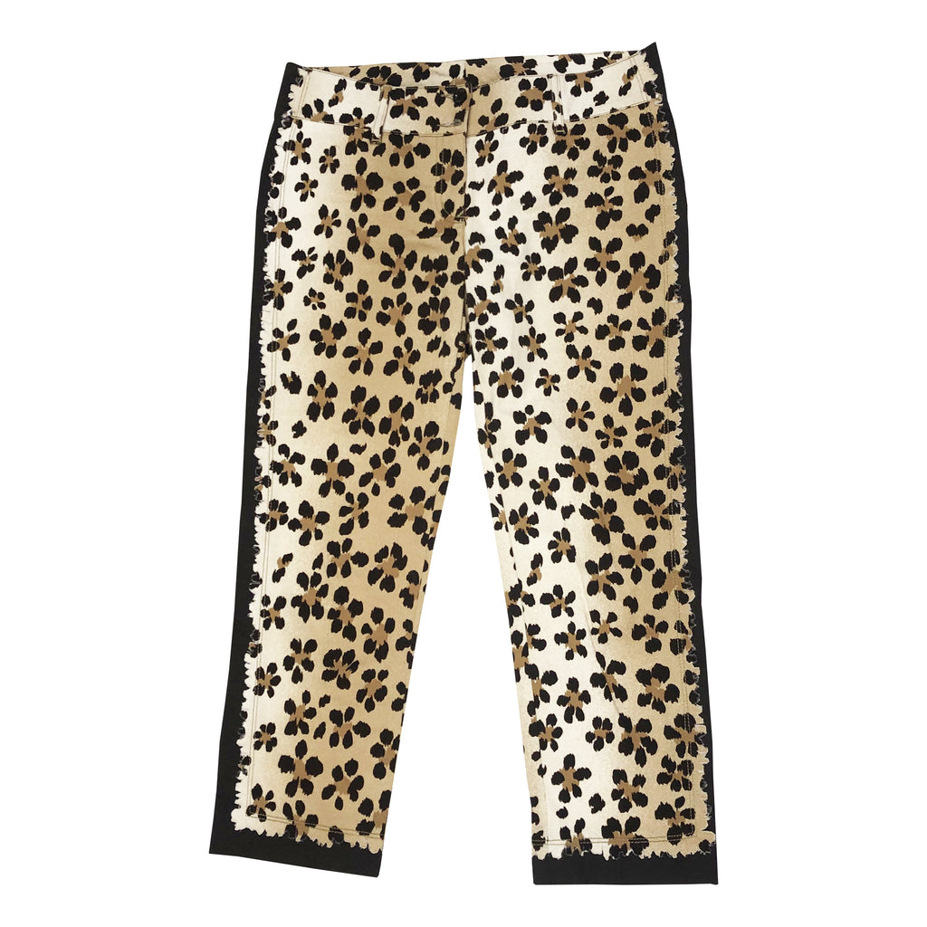 Moschino Leopard Flower Trousers (Multi) UK 12