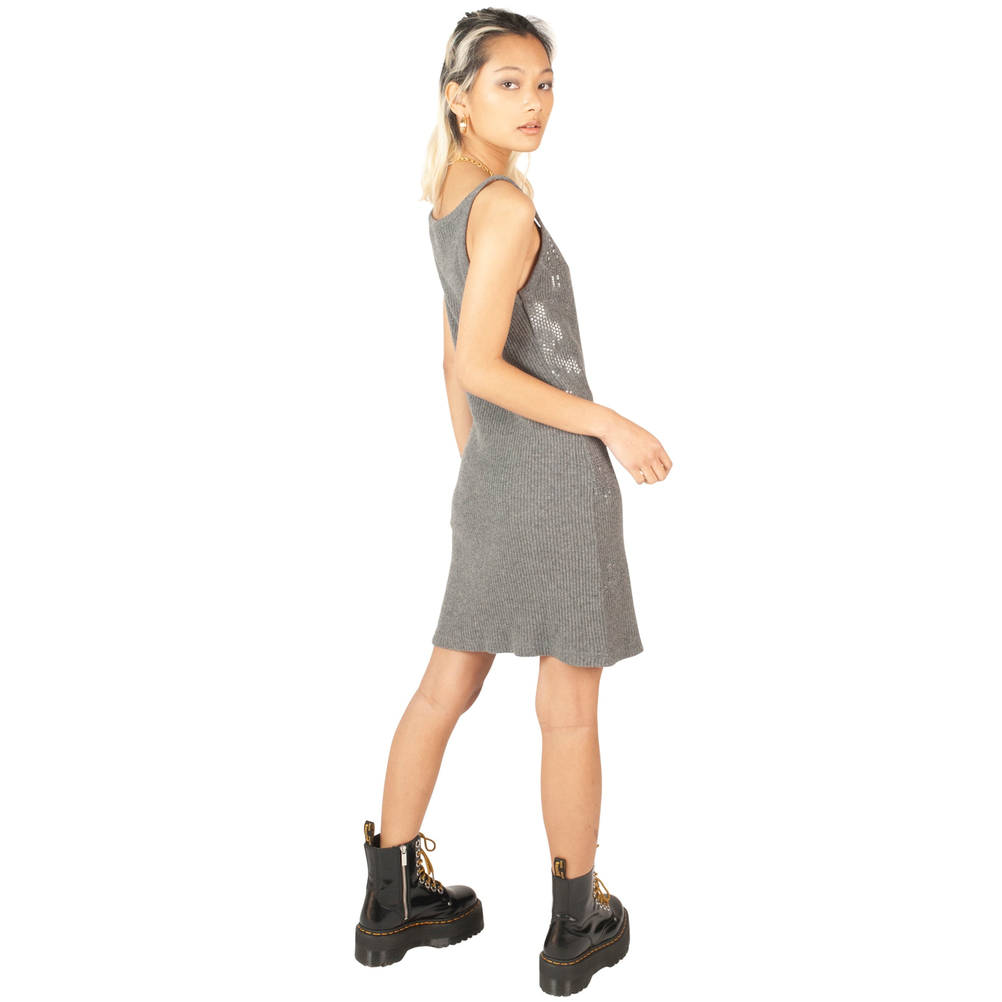 Fendi Shimmer Knit Dress (Grey) UK 6-10