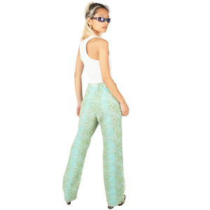 Roberto Cavalli Reptile Jeans (Blue/Green) UK 12