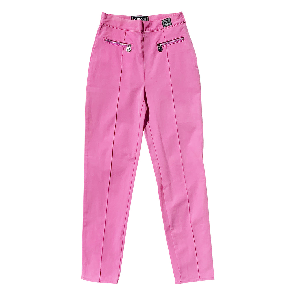 Versace Pleated Trousers (Pink) UK 8