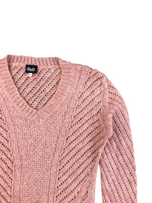 Dolce and Gabbana Knit Jumper (Pink) UK 6-8