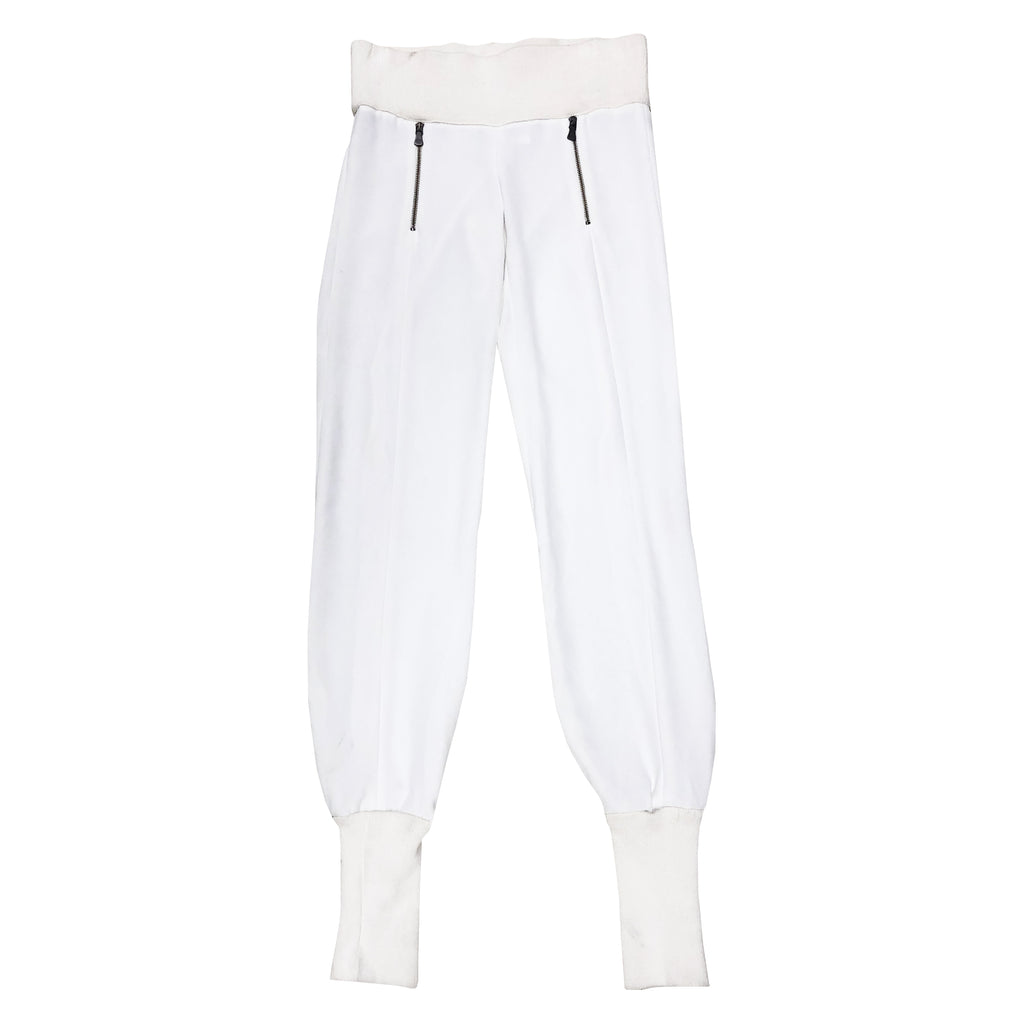 Versace Cuffed Trousers (White) UK 10