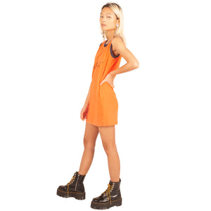 Moschino Script Mini Dress (Orange/Navy) UK 6-8