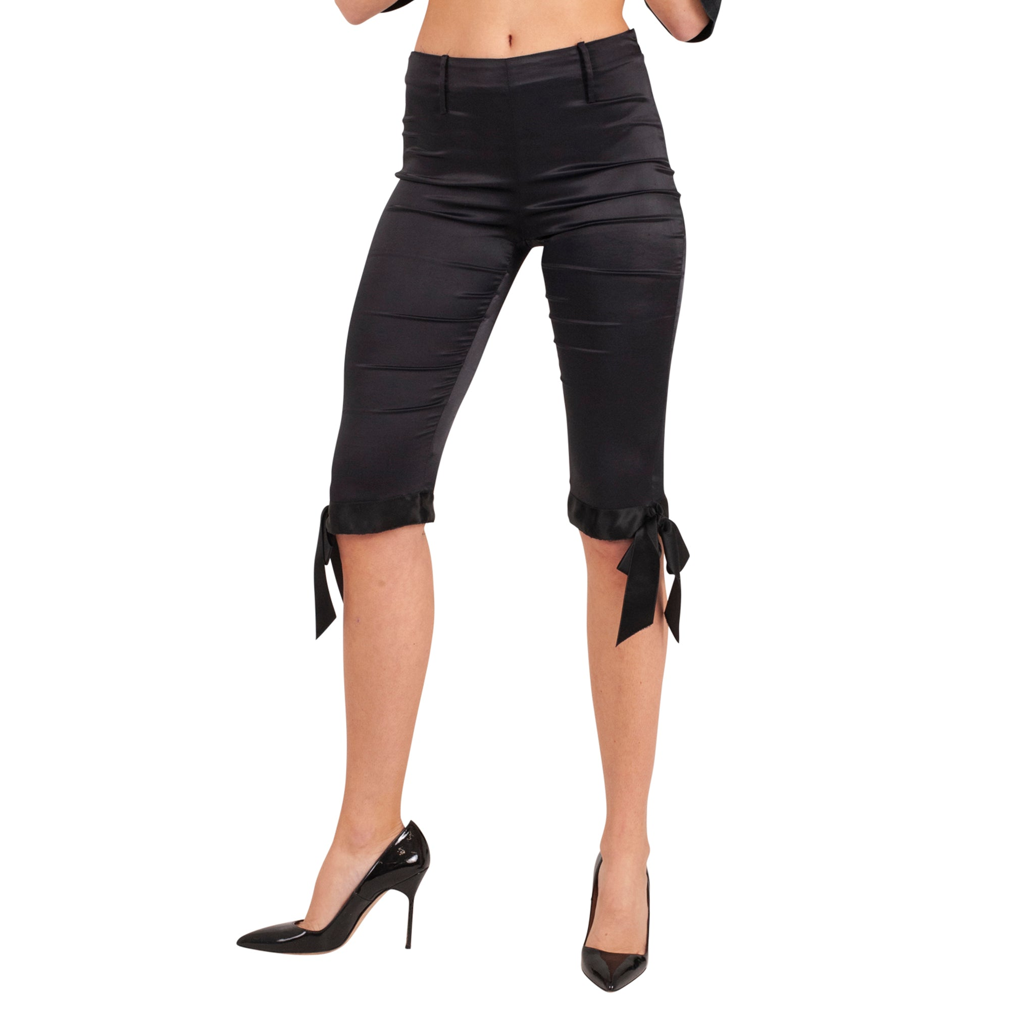 Dolce and Gabbana Capris Bow Trousers (Black) UK 6