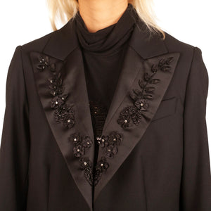 Escada Beaded Flower Blazer (Black) UK 6-10