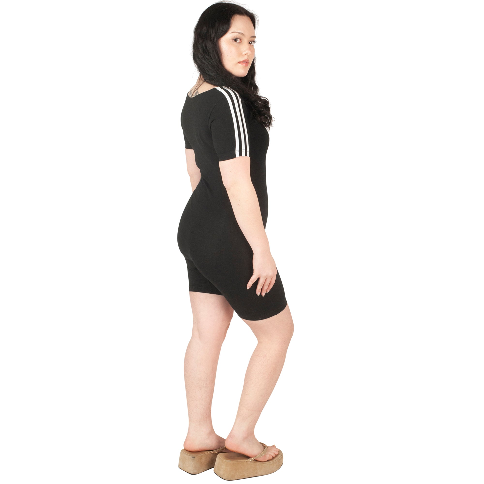 Adidas Playsuit (Black/White) UK 6-8