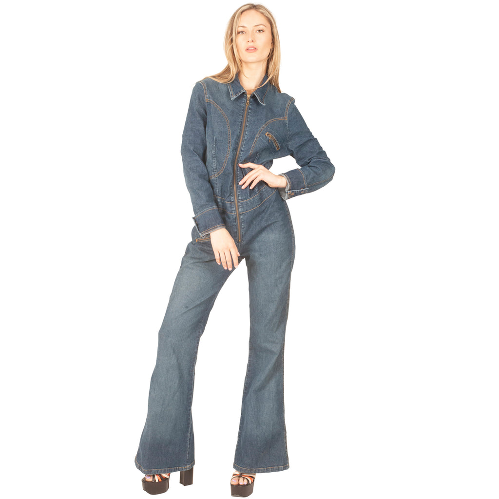 Wrangler Denim Boiler Suit (Indigo) UK 12