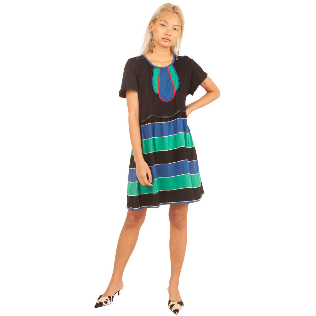 Chloe Dress (Black/Multi) UK 6-10