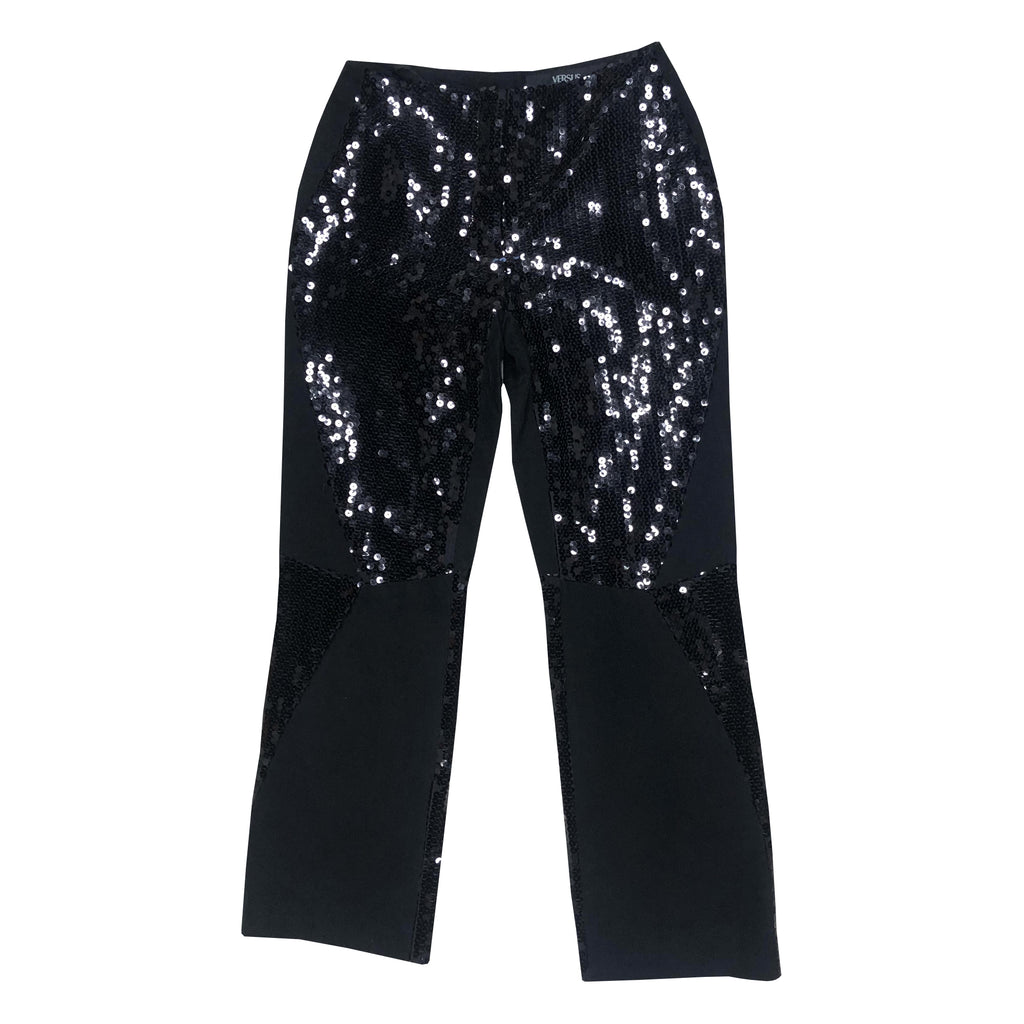 Versace Sparkle Trousers (Black) UK 10