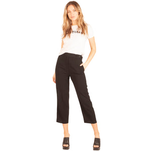 Valentino Cropped Trousers (Black) UK 8-10