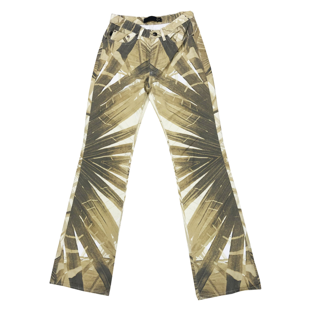 Cavalli Leaf Print Jeans (Multi) UK 8/10