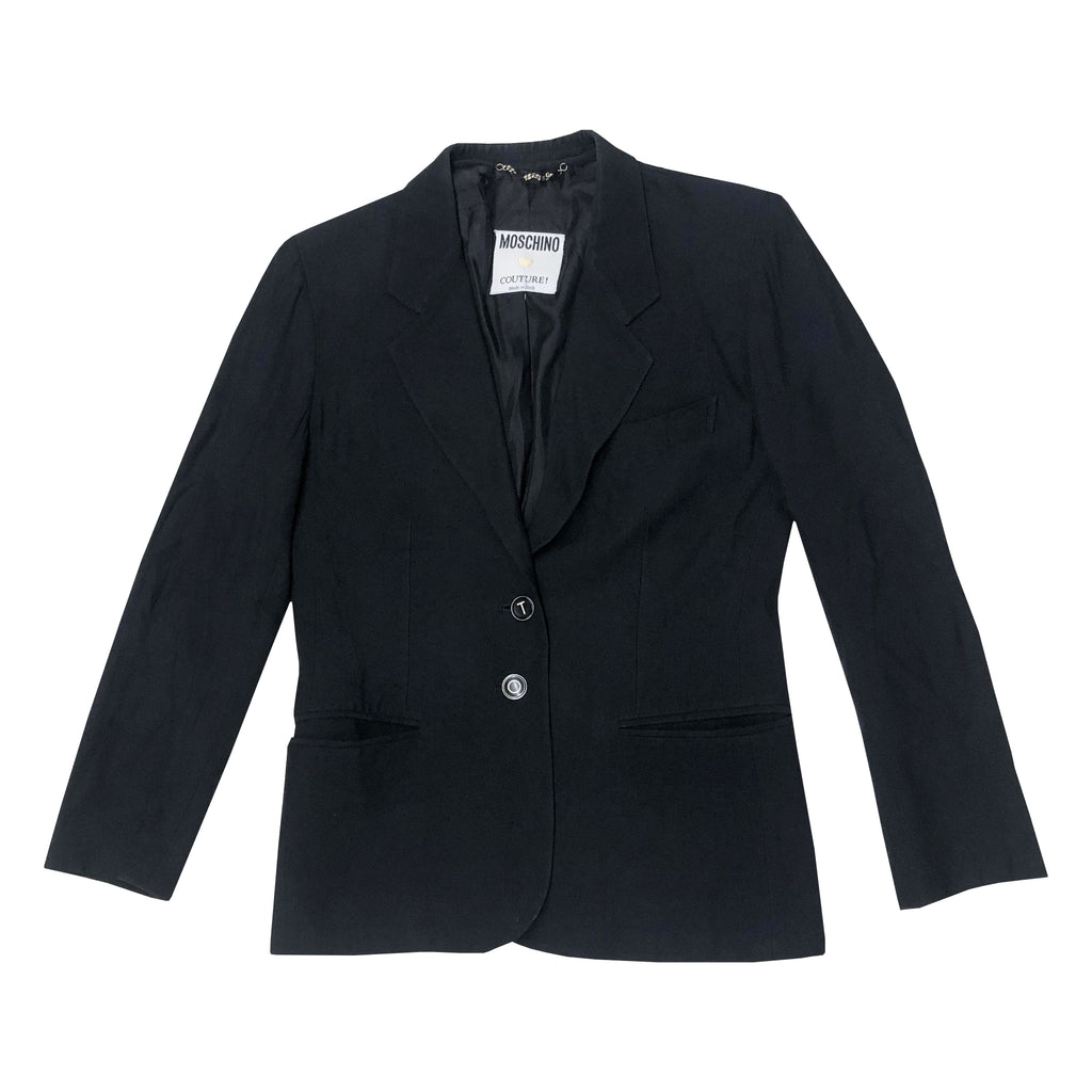 Moschino Born 2 Shop Blazer (Black) UK 8