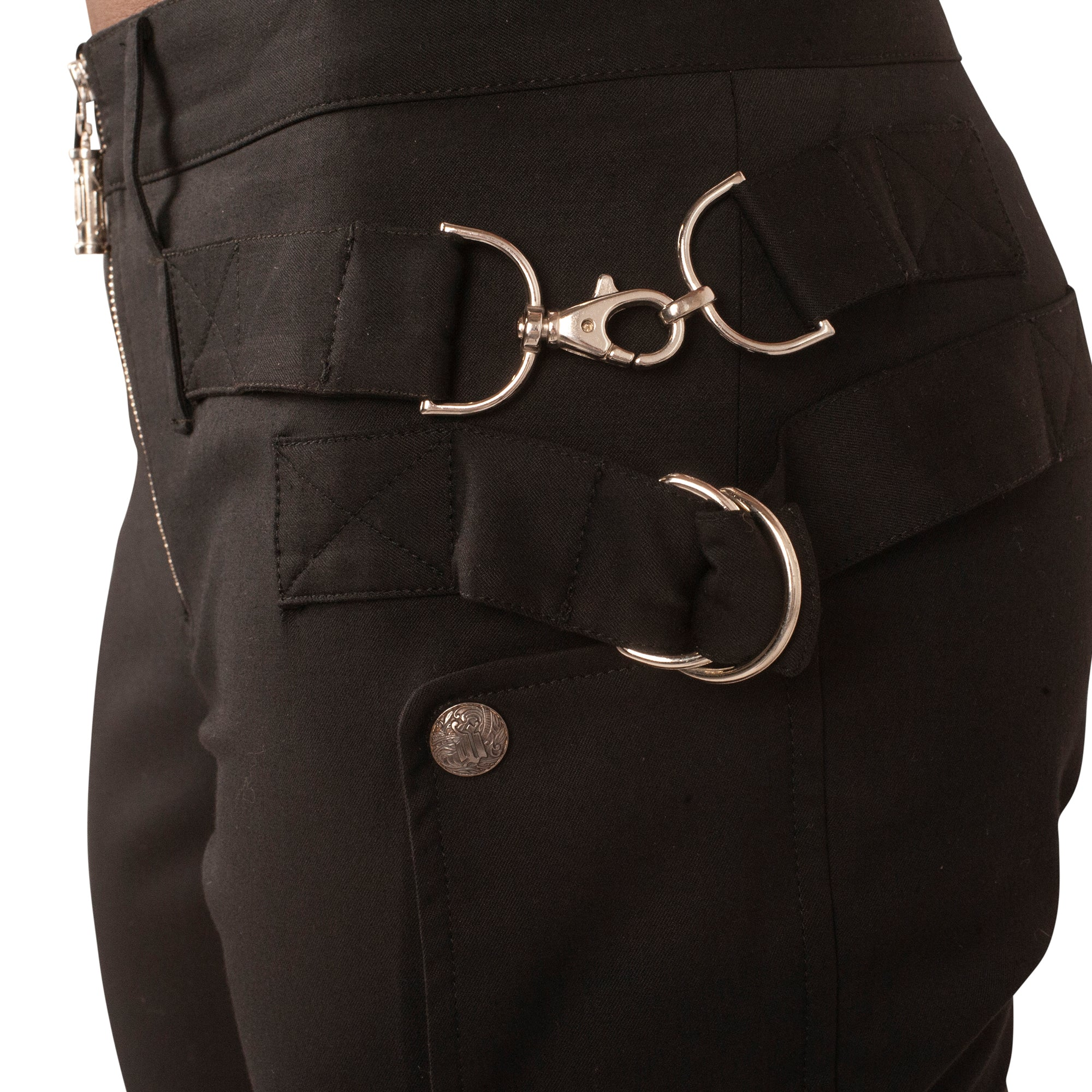 Gianni Versace Hardware Trousers (Black) UK 12