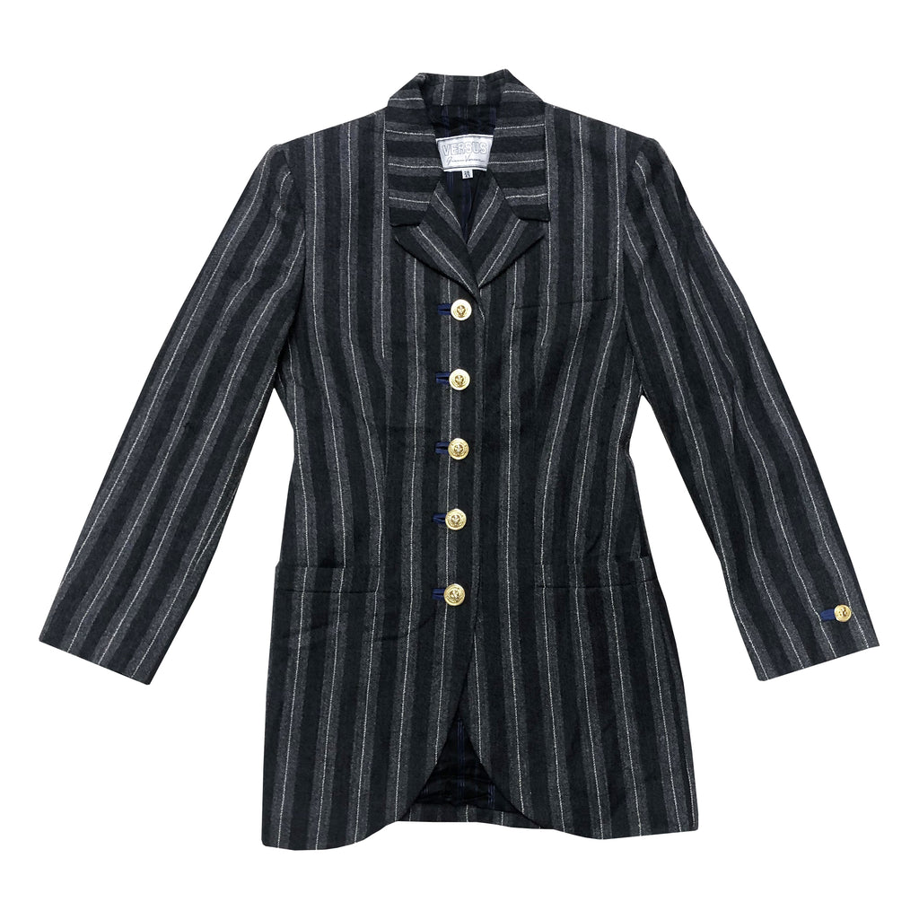 Versace Stripe Blazer (Multi) UK 8