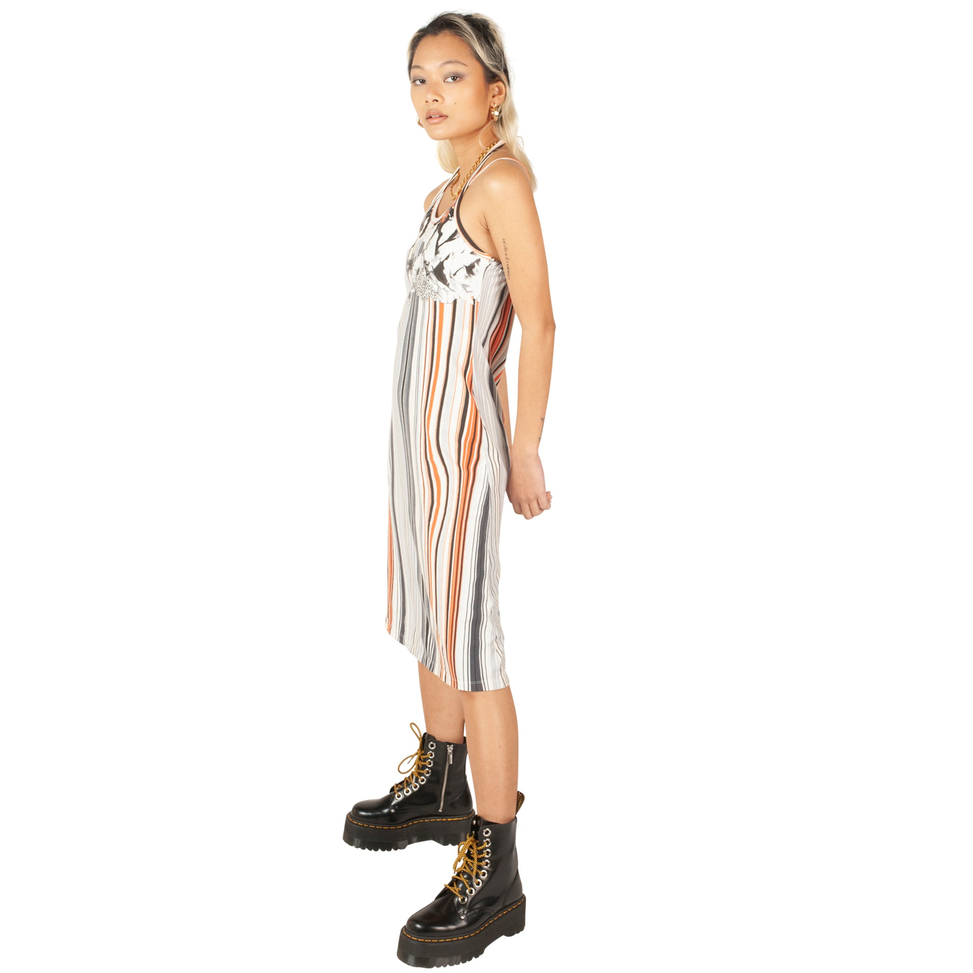 Roberto Cavalli Stripe Dress (Multi) UK 6-8