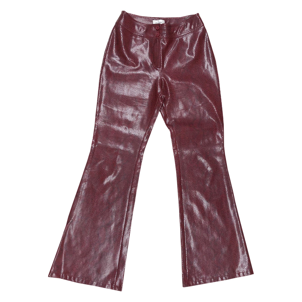 Vintage Snakeskin Flares (Red) UK 10