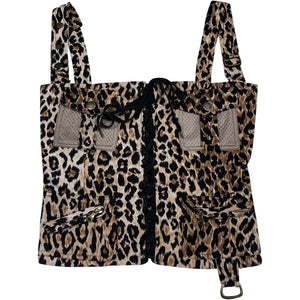 Dolce and Gabbana Leopard Corset (Multi) UK 6-10