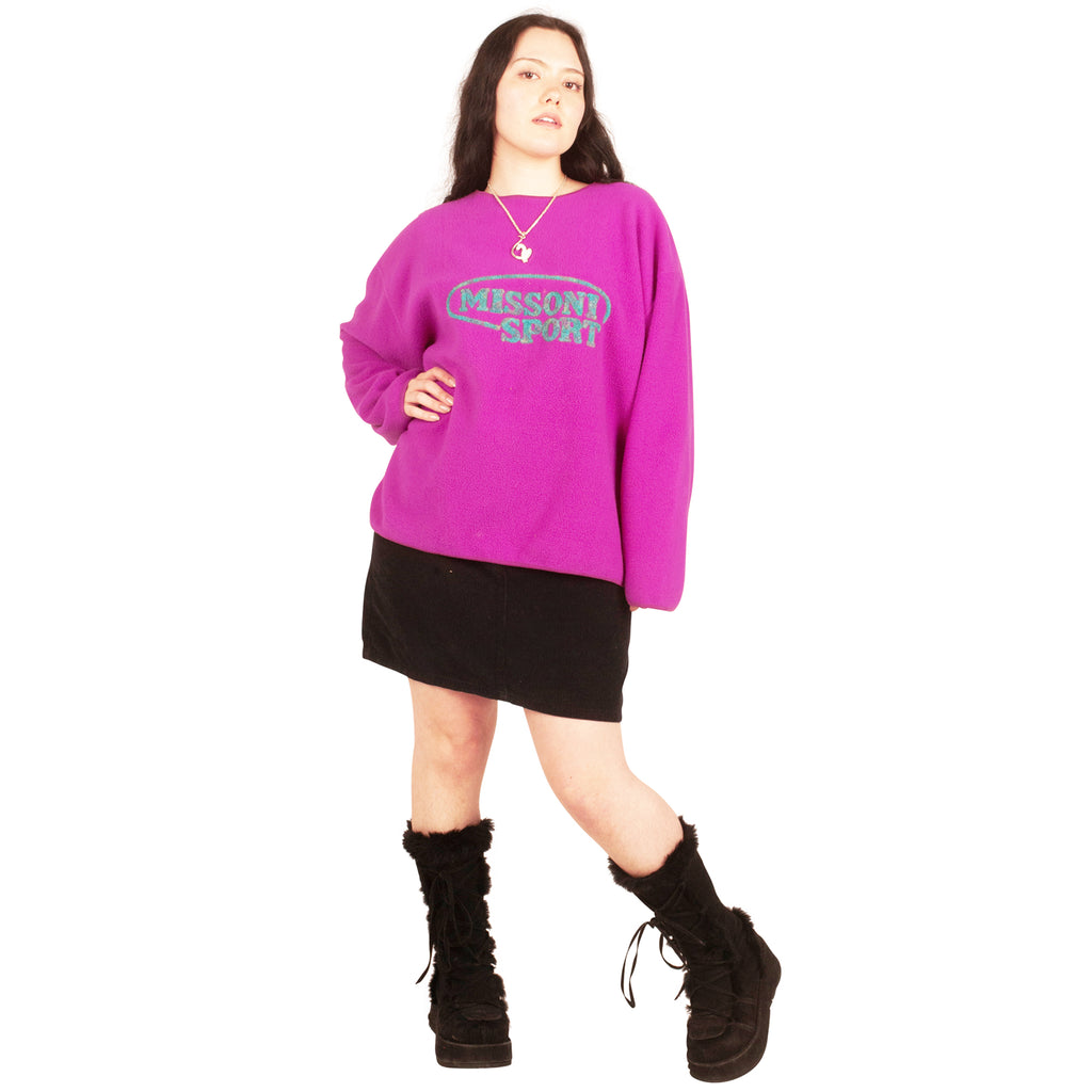 Missoni Fleece Sweatshirt (Purple/Pink) UK 12