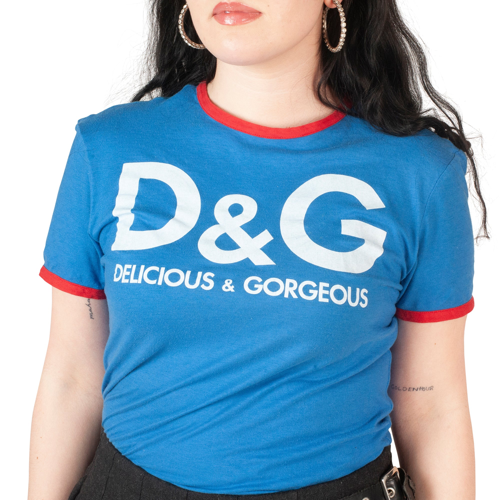 Dolce and Gabbana Delicious T-Shirt (Blue/Red) UK 6-10