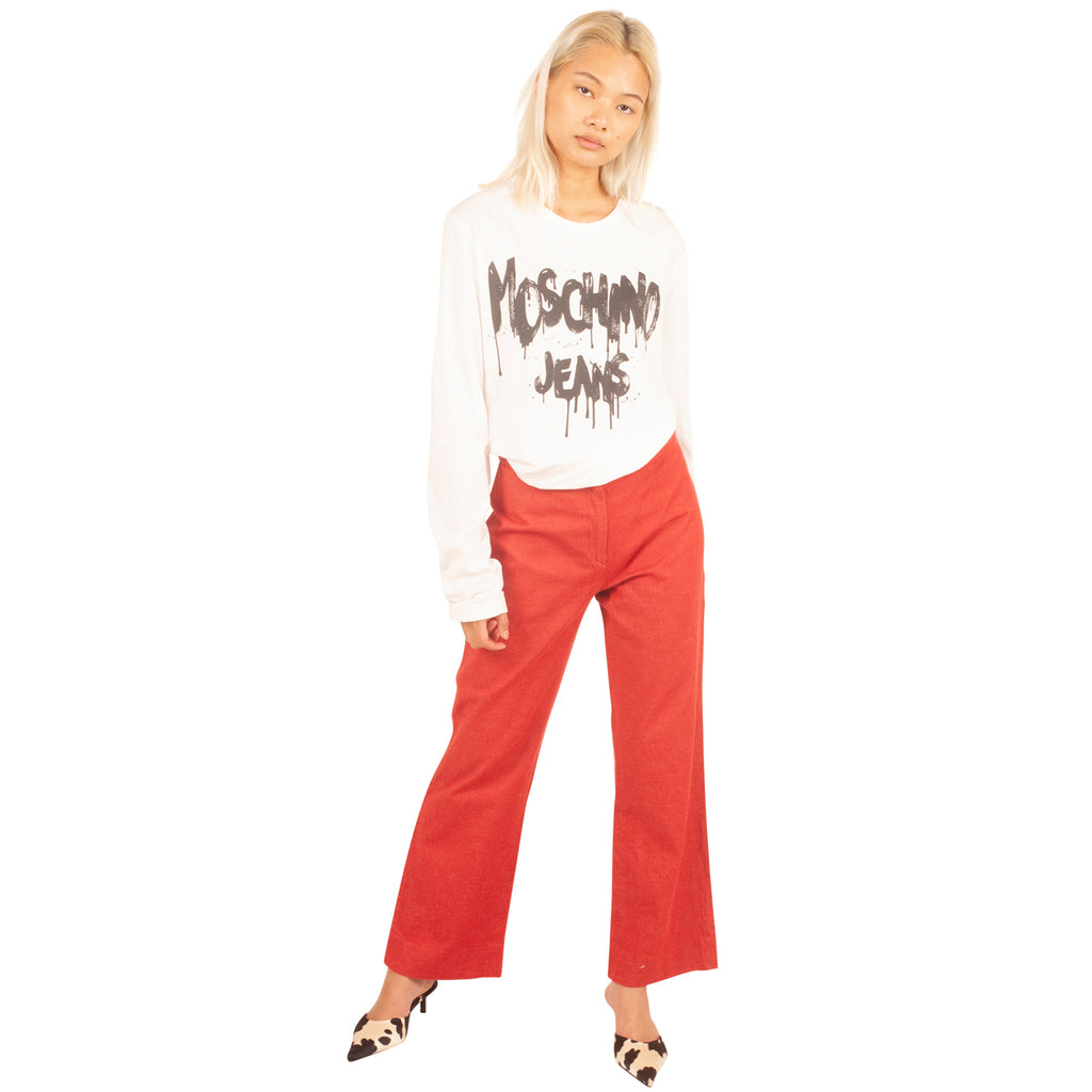 Moschino Jeans LS T-Shirt (White) UK 8-12