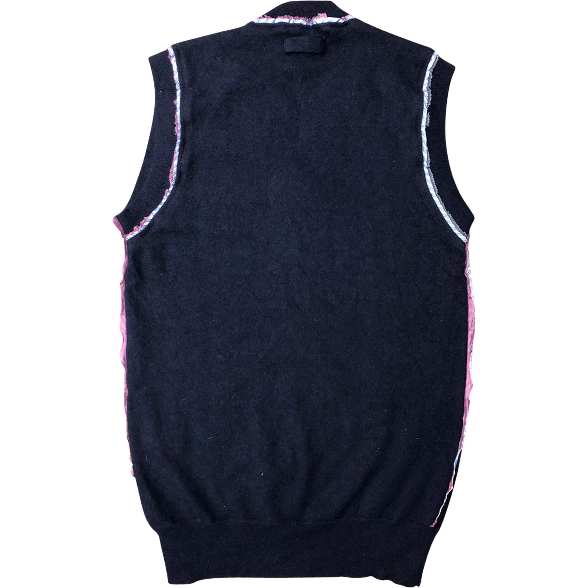 Dolce and Gabbana Exposed Seam Cashmere Vest (Navy) UK 6-8