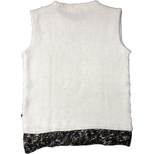 Roberto Cavalli Knitted Vest (Cream/Brown) UK 12