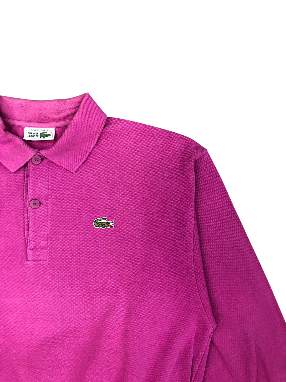 Lacoste Long Sleeve Polo Shirt (Dark Pink) UK 10-12