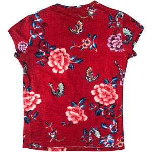 Roberto Cavalli Flowers T-Shirt (Red) UK 6-10