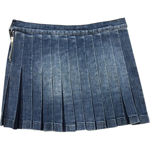 Iceberg Pleated Skirt (Denim) UK 12