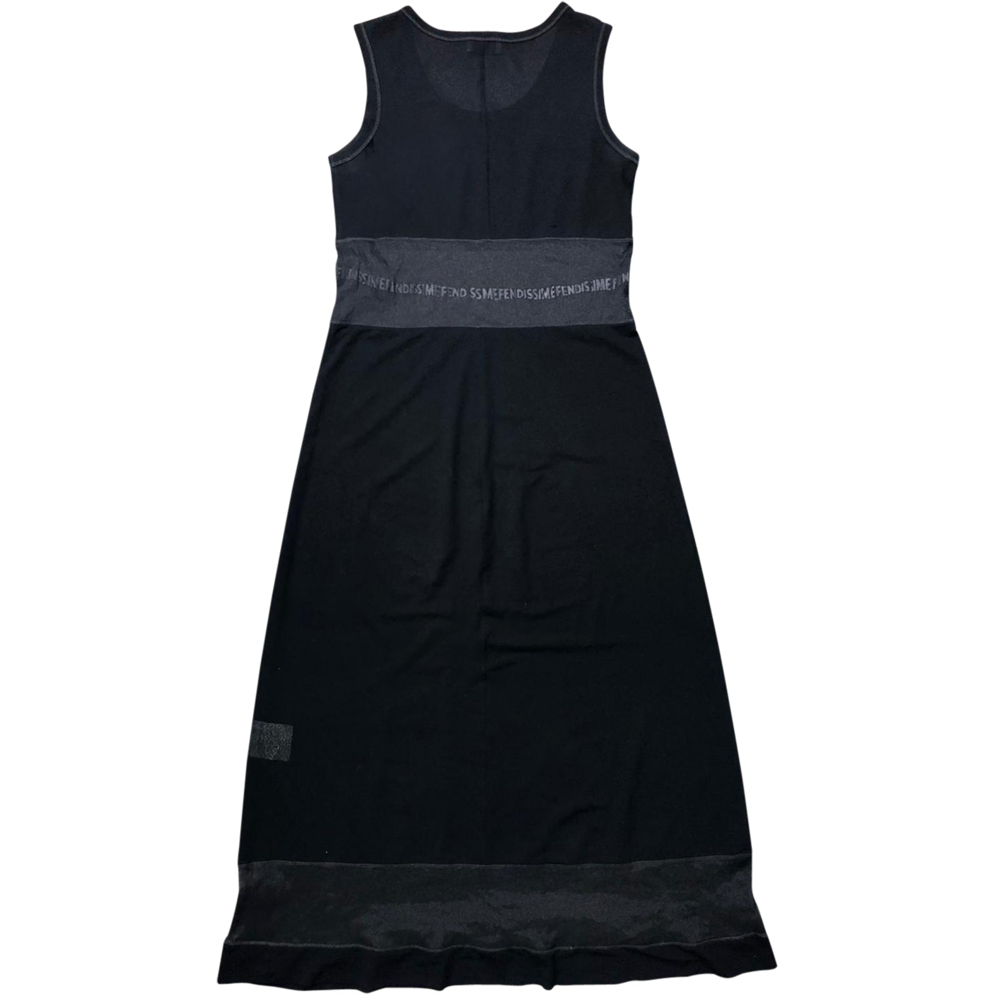 Fendi Fendissime Mesh Sheer Panel Dress (Black) UK 8-10