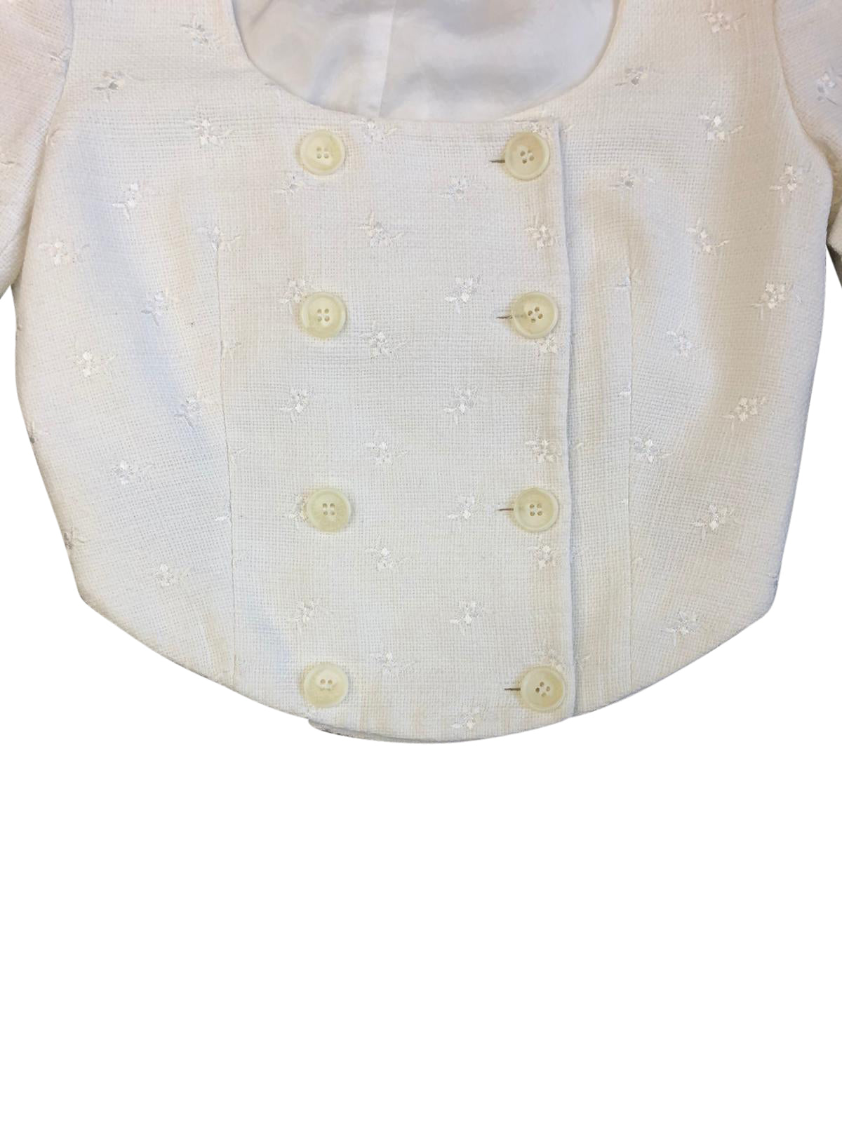 Valentino Oliver Button Up Top (White) UK 6-8