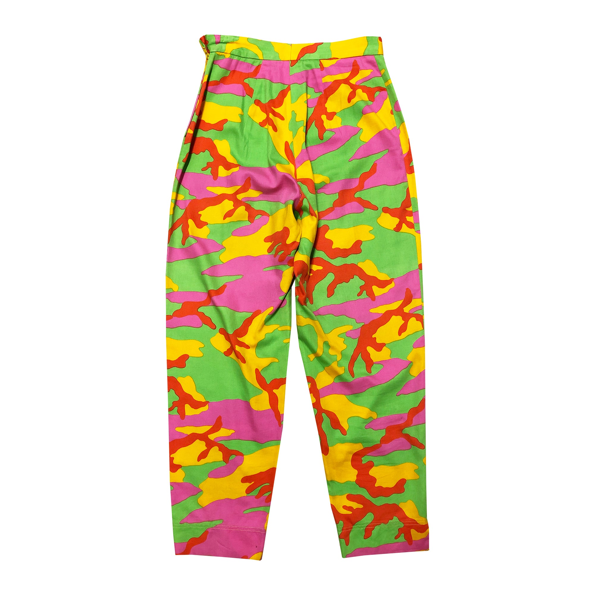 Moschino Neon Camo Trousers (Multi) UK 8