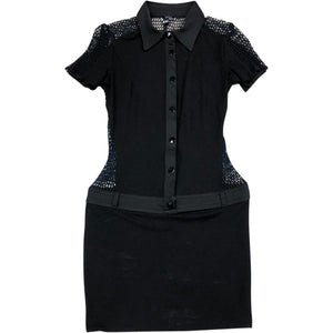 Versace Versus Net Panel Dress (Black) UK 6-8