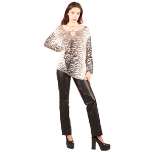 Krizia Zebra Top (Multi) UK 10-14