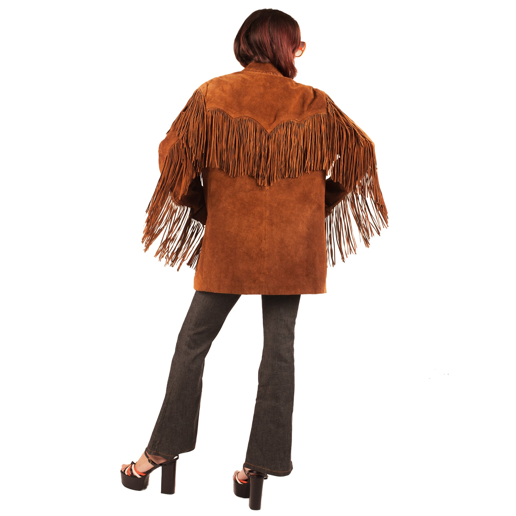 Suede Tassel Jacket (Tan) UK 10-14