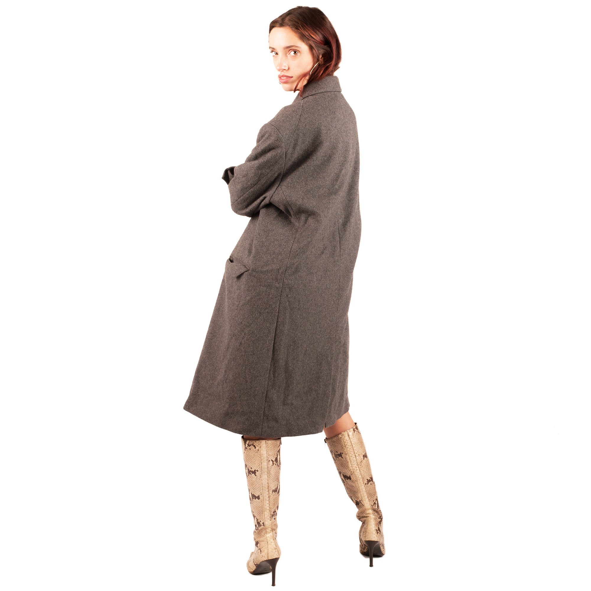 Moschino Wool Trench Coat (Grey) UK 10-16