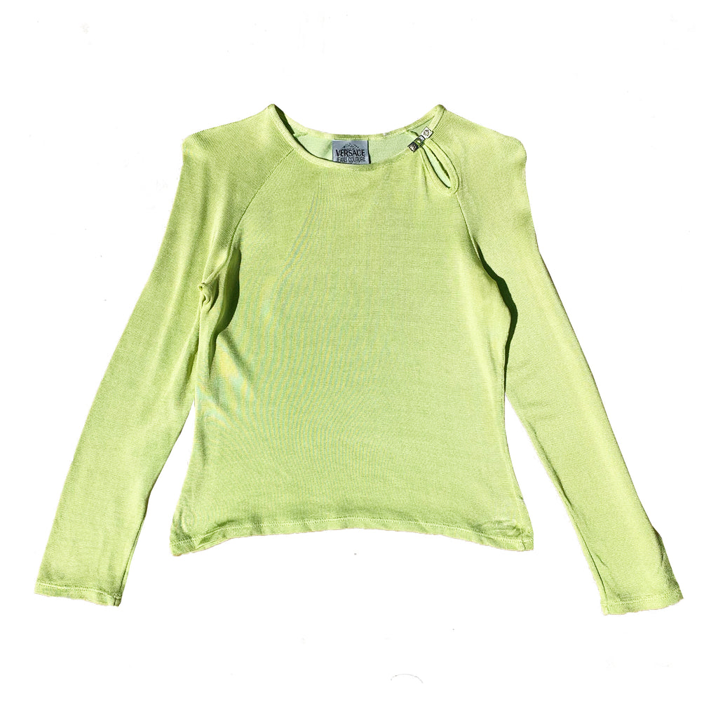 Versace Knit Top (Green) UK 6-10