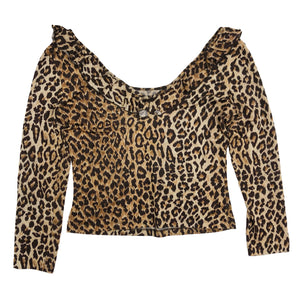 D&G Ruffle Top (Leopard) UK 8