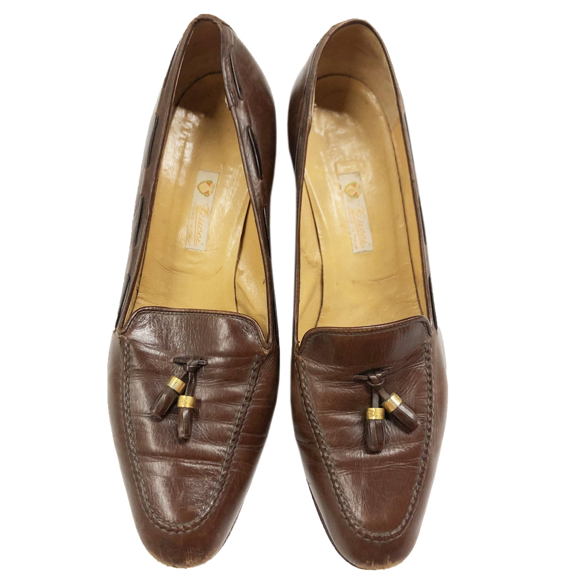 Gucci Leather Loafers (Brown) EU 40.5 UK 8