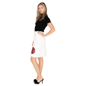 Moschino Jeans Skirt (White) UK 12