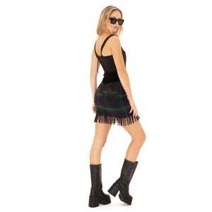 Moschino Jeans Skirt (Plaid) UK 6