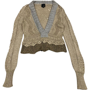 Roberto Cavallo Knit Top (Brown) UK 12